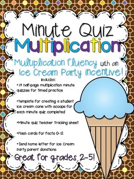 Minute Quiz Multiplication: Fact Fluency with an Ice Cream Party Incentive!