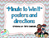 Minute To Win It (10 posters & directions)