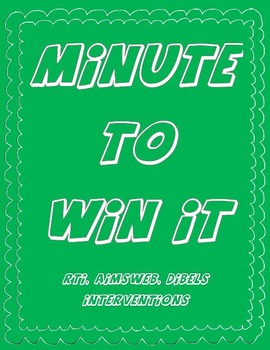 Minute To Win It! -AIMSweb and Dibels Prep for Kindgarten Phonics and Math!