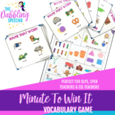 Minute To Win It- Vocabulary Game For Mixed Artic & Language Groups