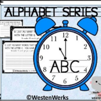 Beginning of the Year, Minute to Win It! Alphabet Series
