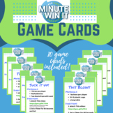Minute to Win It Game Cards- Makerspace Station & Indoor R