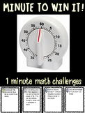 Minute to Win It Math Challenges