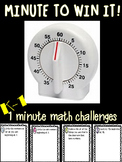 Minute to Win It Math Challenges K-1