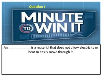 Minute to Win It Review Game- 4th grade all subjects