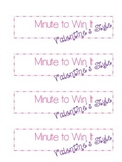 Minute to Win It - Valentine's Day Activities