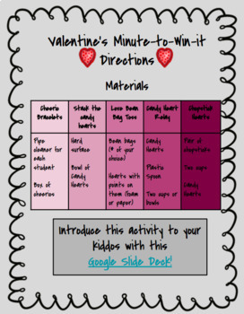 Minute-to-Win-It Valentines Edition