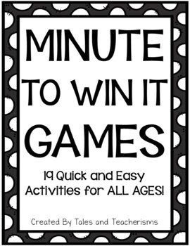 19 Minute to Win it Games for the Classroom and Home