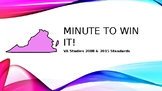Minute to Win it VA Studies History SOL End of Unit Review VS 2-10 included