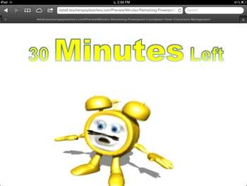 Minutes Remaining Powerpoint Countdown Timer & Classroom Management