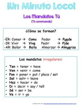 Minuto Loco Mini - Affirmative Tú Commands Conjugation Races