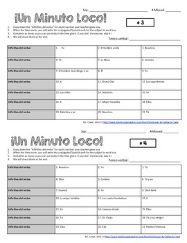 Minuto Loco Mini - Any Verb, Any Tense Conjugation Races