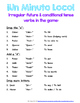 Minuto Loco Mini - Conditional Tense Conjugation Races