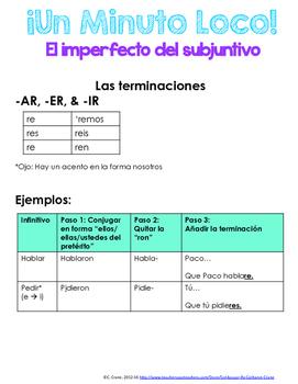 Minuto Loco Mini - Future Subjunctive - El Futuro del Subjuntivo
