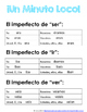 Minuto Loco Mini - Imperfect Irregular Verbs Ir, Ser, Ver - Conjugation Races