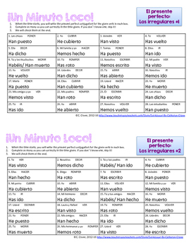 Minuto Loco Mini - Present Perfect Irregular Verbs - El Presente Perfecto
