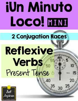 Minuto Loco Mini - Reflexive Verbs in Present Tense Conjugation Races