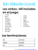 Minuto Loco Mini - Preterite AR Regular Verbs - Conjugation Races