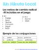 Minuto Loco Mini - Preterite IR Stem Changing Verbs - Conjugation Races