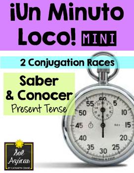 Minuto Loco Mini - Saber and Conocer Present Tense - Conjugation Races