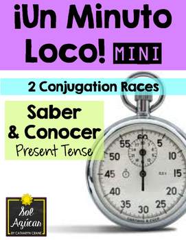 Minuto Loco Mini - Saber and Conocer Present Tense - Conju