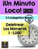 Minuto Loco Mini - Spelling Numbers 1 - 1,000 - Deletrear los números 1 - 1,000