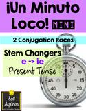 Minuto Loco Mini - Stem Changing Verbs E - IE in Present Tense Conjugation Races