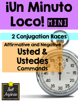 Minuto Loco Mini - Usted and Ustedes Commands - Conjugation Races