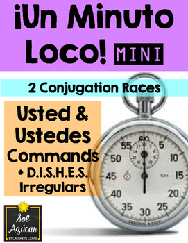 Minuto Loco Mini - Usted and Ustedes Commands + Irregulars - Conjugation Races