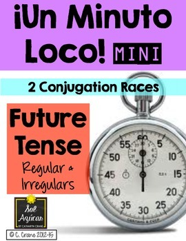 Minuto Loco Mini - Future Tense Verbs Conjugation Races