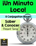 Minuto Loco - Saber & Conocer in Present Tense - Standard Size - 8 Races