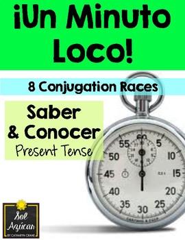 Minuto Loco - Saber & Conocer in Present Tense - Standard Size - 8 Races
