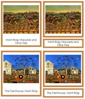 Miró (Joan) 3-Part Art Cards - Color Borders