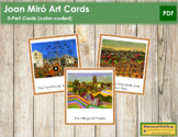 Miró (Joan) 3-Part Art Cards - Color Borders
