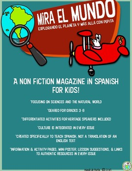 Mira el Mundo Spanish Non-Fiction Magazine 4 MONTH Subscription for Kids