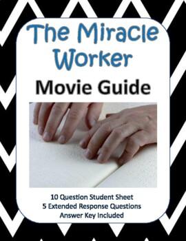 miracle worker movie questions by nordskog teachers pay teachers rh teacherspayteachers com The Miracle Worker Disney Miracle Worker Anne Bancroft