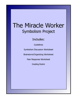 Miracle Worker Writing/Art Project - guidelines, worksheets, rubric
