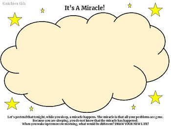 Miracle Worksheet for Kids (Counseling Lesson)