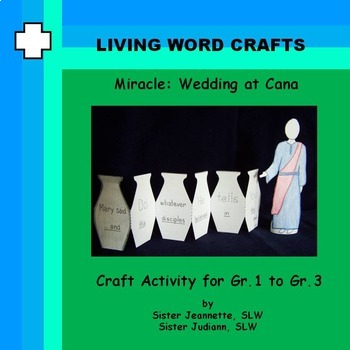 Miracles: Wedding at Cana 3D Craft for Gr.1 to Gr.3