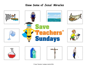 Miracles by Jesus Lesson Plan and Worksheets / Activity