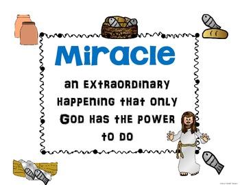 Miracles of Jesus Mini-booklet