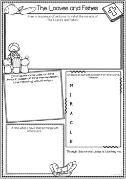 Miracles of Jesus ~ Worksheets, Feeding 5000, Wedding at Cana, Lazarus and more!