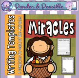 Miracles of Jesus Writing Templates