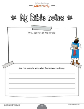 Miracles of the Bible: Daniel and the Lions workbook