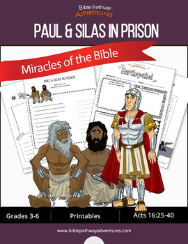 Miracles of the Bible: Paul, Silas and the Earthquake workbook