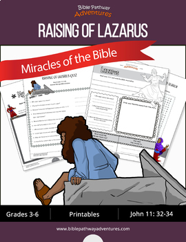 Miracles of the Bible: Raising of Lazarus workbook