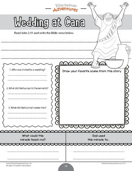 Miracles of the Bible: Wedding at Cana workbook