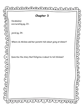 Miraculous Journey of Edward Tulane Vocab/Comprehension Questions