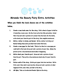 Rainbow Magic: Miranda the Beauty Fairy #1 By Daisy Meadows Comprehension Packet