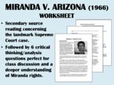 Miranda v. Arizona (1966) Reading with Questions - USH/APUSH